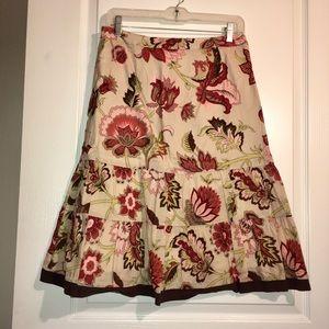 Ann Taylor Floral Skirt Size 6